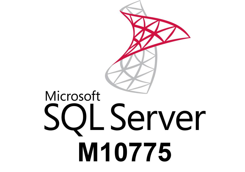 М10775 Администрирование баз данных Microsoft SQL Server 2012