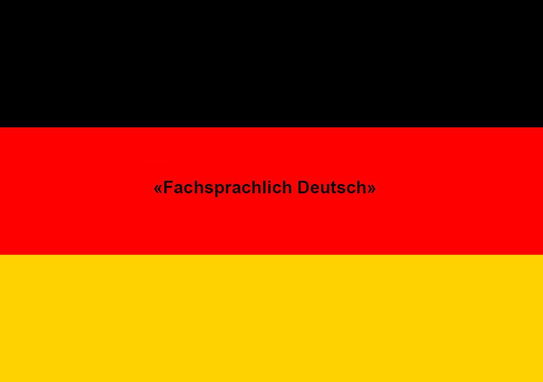Немецкий язык для профессионалов — «Fachsprachlich Deutsch»